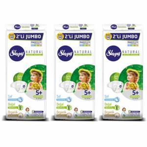 Sleepy Bebek Bezi Naturel 5+ Numara-Beden Junior Plus 13-20 Kg 44 Lü 3 Paket 132 Adet
