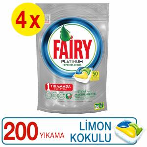 Fairy Platinum Bulaşık Makinesi Tableti 50'li 4'lü Set