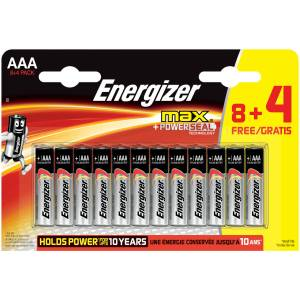 Energizer Alkaline Max 8+4 AAA İnce Kalem Pil