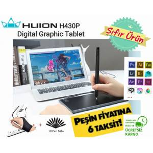 HUION 430P Digital Grafik Tablet & Stylus Kalem