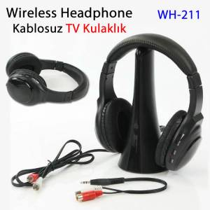 Deluxe Wireless Stereo Kablosuz Kulaklık Headphones TV PC DVD MP3