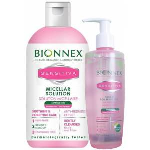 Bionnex Sensitiva Misel Solüsyon 250 ml + Yüz Yıkama Jeli 200 ml Set