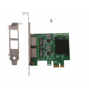 OPEN SMART Dual / 2 Port Gigabit PCI-E X1 Ethernet Kart (Realtek RTL8111G Chipset)