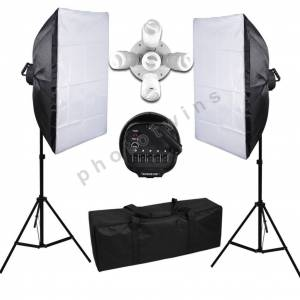 50X70cm 5 Duylu Softbox Sürekli Işık,Fotoğraf,Video,Youtuber Kit