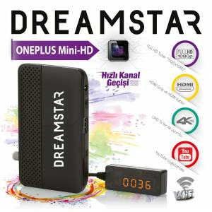 DreamStar One-Plus mini HD Uydu Alıcısı TKGS