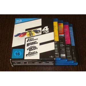 THE FAST AND THE FURIOUS 1-2-3-4 BOX SET BLU-RAY