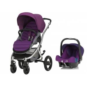 Britax Römer Affinity + Baby Safe Plus Shr 2 Travel Set Mineral Lilac - Chrome Şasi İle
