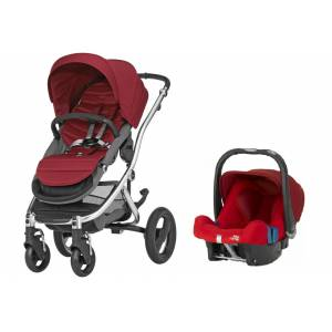 Britax Römer Affinity + Baby Safe Plus Shr 2 Travel Set Chili Pepper - Chrome Şasi İle