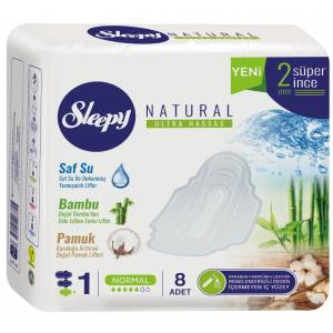 Sleepy Hijyenik Ped Natural Ultra Normal (İç  Adet 8) Tekli Pk