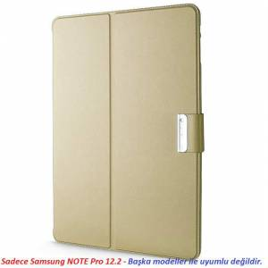 SAMSUNG GALAXY Note Pro 12.2 TABLET KILIF STANDLI GOLD ALTIN RENK ÜA