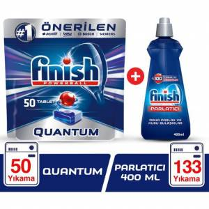 Finish Quantum 50 Tablet + Finish Parlatıcı 400 ml