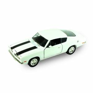 LUCKY DİE CAST 92179  1/18 1969 PLYMOUTH BARRACUDA-WHITE