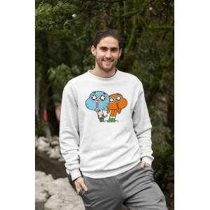 Angemiel Wear Gumball Ve Darwin Erkek Sweatshirt