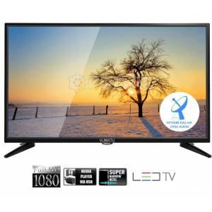YUMATU 24INC (61CM) FULLHD UYDU ALICILI SLIM USB 12V LED TV + SABİT ASKI APARATI