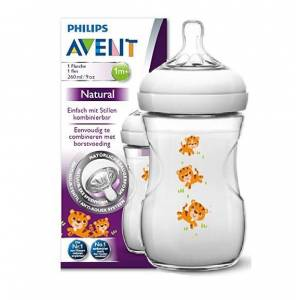 Philips Avent Natural 260ml 9oz 1m+ PP Biberon KAPLAN