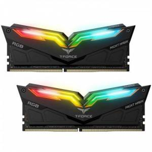 Team T-Force Night Hawk RGB 3600MHz 16GB (2x8GB)DDR4 CL18 Siyah RGB Gaming Ram-TF1D416G3600HC18EDC01
