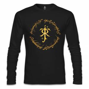 Lord of the Rings - JRRT Siyah Erkek Sweatshirt