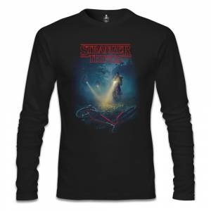 Stranger Things - Bicycle Siyah Erkek Sweatshirt