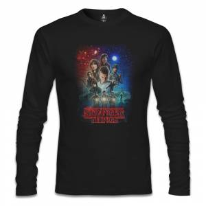 Stranger Things - Moonlight Siyah Erkek Sweatshirt