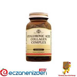 Solgar Hyaluronic Acid Collagen Complex 30 Tablet - eczanenizden