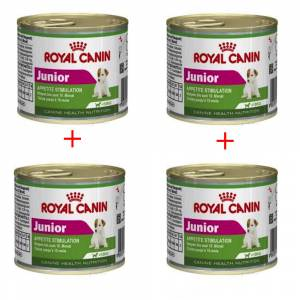 Royal Canin Mini Junior Köpek Konservesi 195 Gr x 4 Adet