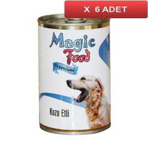 Magic Food Premium Kuzu Etli� Köpek Konservesi 415 Gr (6 ADET)