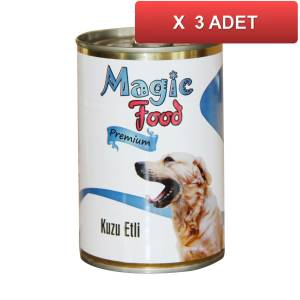 Magic Food Premium Kuzu Etli� Köpek Konservesi 415 Gr (3 ADET)