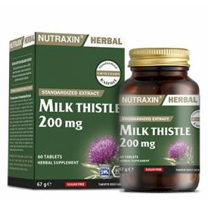 Nutraxin Herbal Milk Thistle 200mg 60 Kapsül(son kullanım tarihi 07-2021)
