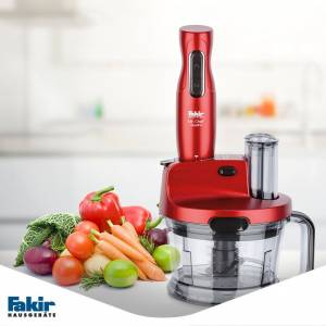 FAKİR MR CHEF QUADRO 1000W BLENDER-MİKSER-RONDO SET-ROUQE KIRMIZI