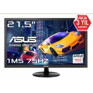 21.5 ASUS VP228QG Gaming LED FreeSync 1920x1080 1ms 75hz 3YIL DP HDMI VGA MM VESA EyeCare Flicker-Fr