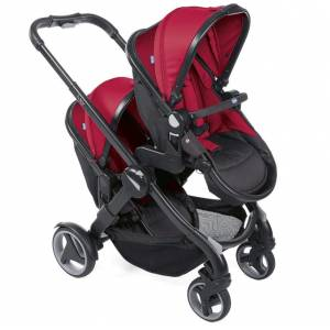 Chicco Fully İkiz Bebek Arabası Red Passion