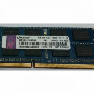 KINGSTON 4 2RX8 GB DDR3L-12800S 1600 MHZ 11-11-F3 NOTEBOOK RAM