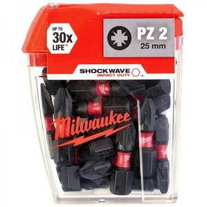 Milwaukee Bits Uç Pz2 25Mm 25Li Pkt Shockwawe PZ2