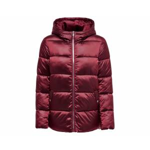 Only Bordo Kadın Montu 15183106-Merlot Onlnaiomi Hooded Jacket Cc Otw