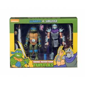 TMNT: Cartoon Leonardo vs Shredder