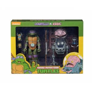 TMNT: Cartoon Donatello vs Krang in Bubble Walker