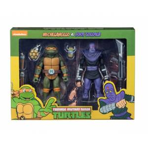 TMNT: Cartoon Michelangelo vs Foot Solider