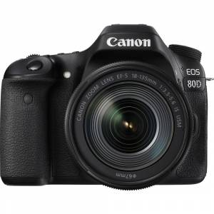 Canon EOS 80D 24.2MP Wi-Fi + 18-135mm Nano IS USM Kit
