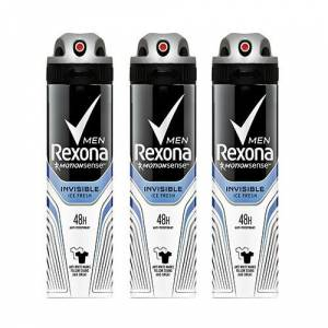 Rexona İnvisible İce Fresh Erkek Deodorant 150 Ml 3 Lü Paket