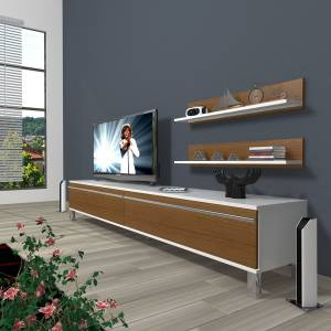 DECORAKTİV EKO 4 MDF STD KROM AYAKLI TV ÜNİTESİ TV UNİTESİ+2 RAF 8682109200653