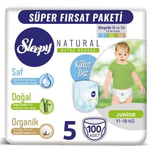 Sleepy Natural Külot Bez 5 Numara Junior 100 Adet