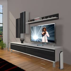 DECORAKTİV EKO 7 MDF STD KROM AYAKLI TV ÜNİTESİ TV SEHPASI TV UNİTESİ 18682109201916