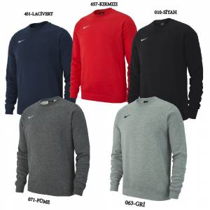 Nike Team Club19 Crew Erkek Sweatshirt AJ1466-BK