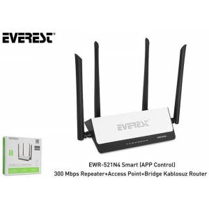 Everest EWR-521N4 Smart (APP Control) 300 Mbps Repeater+Access Point+B
