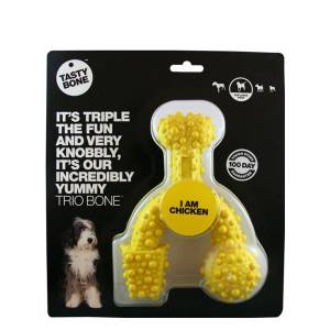 Tasty Bone 744440 Trio Bone Small Nylon Chicken Köpek Oyuncağı