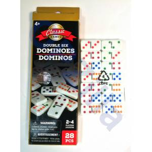 (USA) Classic GAMES Double Six Dominoes Domino seti