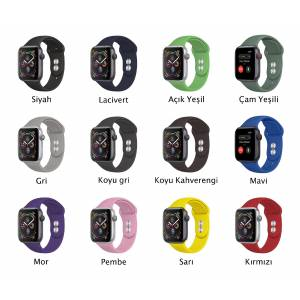 Apple Watch Silikon Kordon Kayış 38mm-40mm 1  2  3  4  5