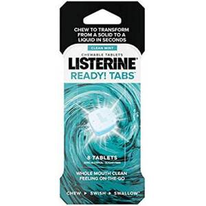 Listerine tabs whole mouth clean fresh 8 li Made in USA