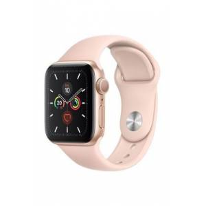 Apple Watch Series 5 GPS, 40mm Gold Aluminium Case with Pink Sand Sport Band MWV72TU/A