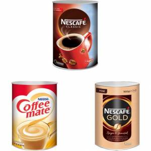Nescafe Classic 1000 gr + Gold 900 gr + Nestle Coffee Mate 2 kg